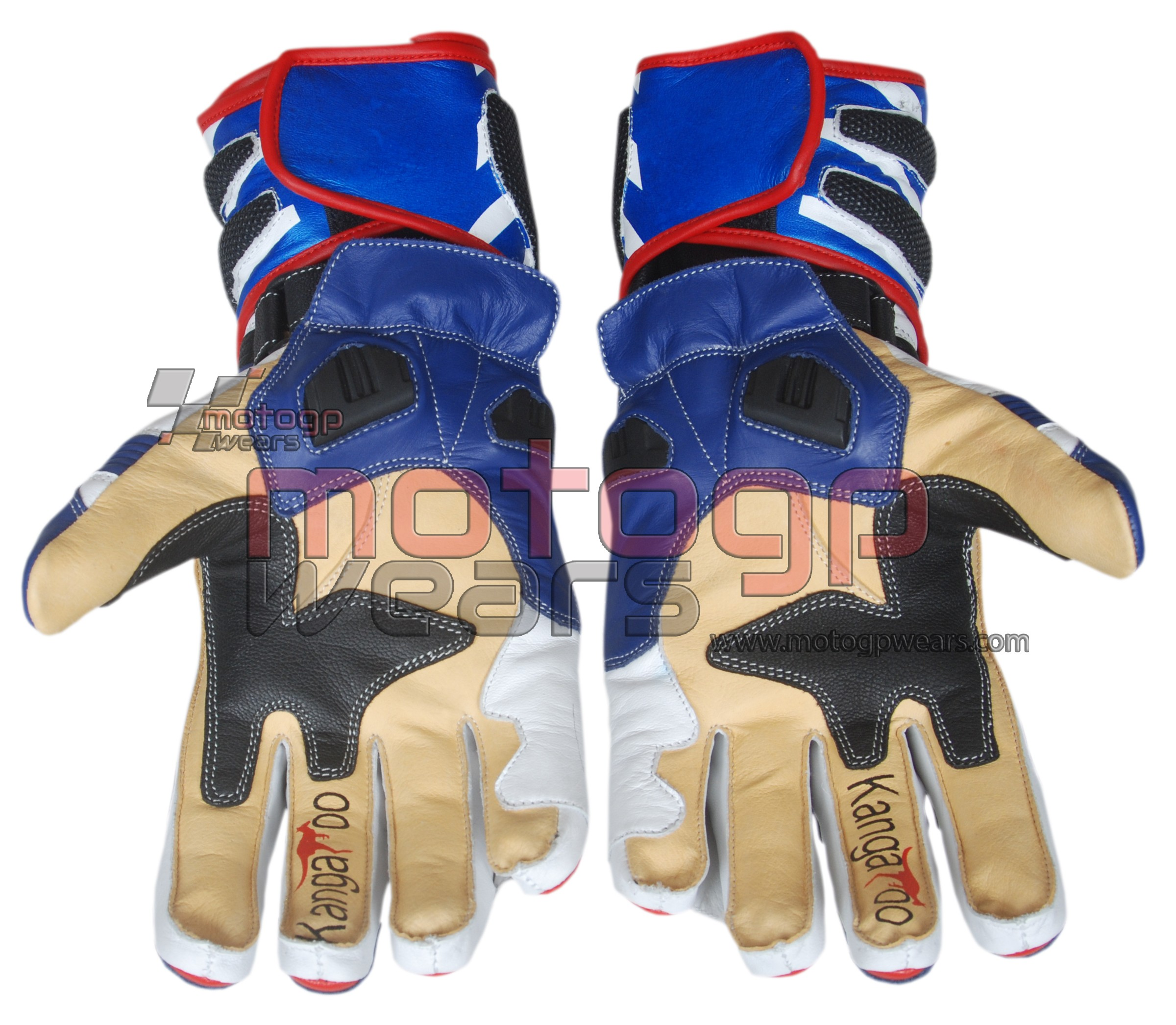 BMW Motorrad Motorbike Racing Leather Gloves Motogp Available in All Sizes