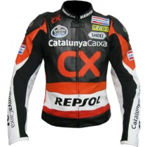 CX Repsol Motorbike Racing Leather Jacket MRLJ1002