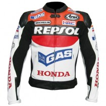 Honda Repsol Dazzler Motorbike Racing Leather Jacket