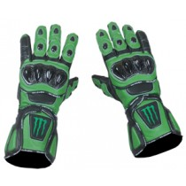 Kawasaki Monster Energy Motorbike Racing Leather Gloves MRLG1004