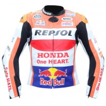 Marc Marquez Honda Repsol Motorbike Racing Leather Jacket MRLJ1004