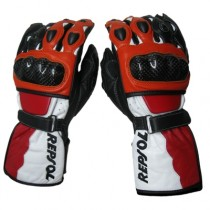 Repsol Motorbike Racing Leather Gloves