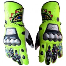 Valentino Rossi MotoGp 2009 Motorbike Racing Leather Gloves