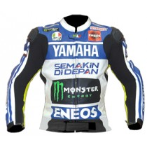 Rossi Yamaha Motorbike Racing Leather Jacket MRLJ1006