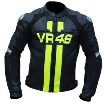 Rossi VR46 Motorbike Racing Leather Jacket MRLJ1007