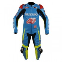Suzuki MotoGP 2015 Motorbike Racing Leather Suit