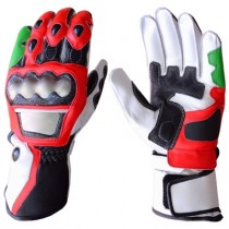 Tom Sykes Kawasaki Ninja Motorbike Racing Leather Gloves