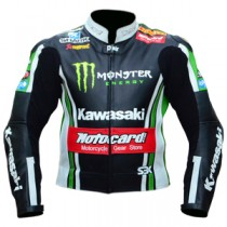 Tom Sykes Kawasaki Motorbike Racing Leather Jacket