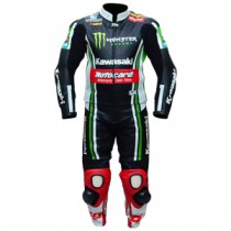 Tom Sykes Kawasaki Ninja Motorbike Racing Leather Suit