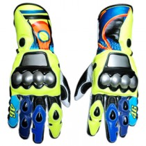 Valentino Rossi MotoGp 2017 Motorbike Racing Leather Gloves MRLG1011