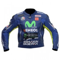 Valentino Rossi MotoGp 2017 Motorbike Racing Leather Jacket