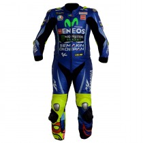 Valentino Rossi VR46 Motorbike Racing Leather Suit 2017