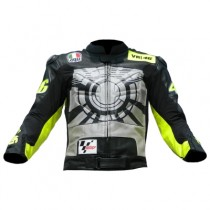 Valentino Rossi Winter Test Motorbike Racing Leather Jacket