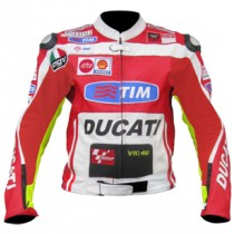 Rossi Ducati Motorbike Racing Leather Jacket MRLJ1008
