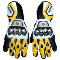 Yamaha Motorbike Racing Leather Gloves