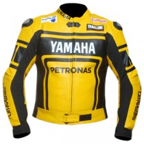 Yamaha Petronas Yellow Motorbike Racing Leather Jacket